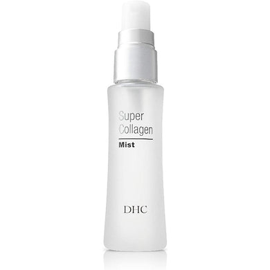 DHC Super Collagen Mist (SS) 50ml Spritz and refresh anytime! Hydrate your skin with a new-generation collagen mist This advanced ultra-fine mist toner infuses skin with collagen-derived peptides to keep it refreshed and hydrated. Formulated with DHC's patented Dipeptide-8, a smaller skin-firming collagen molecule that instantly absorbs to deliver deep hydration.