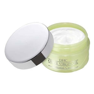 DHC Olive Virgin Oil Essential Cream SS 32g The cream also contains squalene, rice bran oil, and other plant-derived ingredients to protect and nourish your skin. The rich cream melts when applied to skin, turning into an oil that absorbs quickly and without stickiness while gently revitalizing your skin. No added fragrance, colorants or parabens.