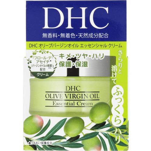 DHC Olive Virgin Oil Essential Cream SS 32g DHC Olive Virgin Oil is a 100% natural beauty oil, made from Flor de Aceite (Flower of the Oil), a rare oil obtained from Spanish organic olive fruits. The natural beauty-enhancing benefits of the oil bring a vitality to your complexion, leaving it smooth, supple, and firm. The cream also contains squalene, rice bran oil, and other plant-derived ingredients to protect and nourish your skin.