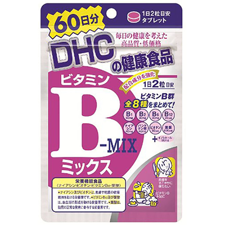 Vitamin B Mix (60-Day Supply) Vitamin B is an essential vitamin for metabolizing sugar, protein, and other nutrients. It is recommended for weight control as it also helps transform fats and carbohydrates into energy. Vitamin B also reduces fatigue by converting carbohydrates to energy. Furthermore, vitamin B supports beauty by promoting moisturized, supple skin.
