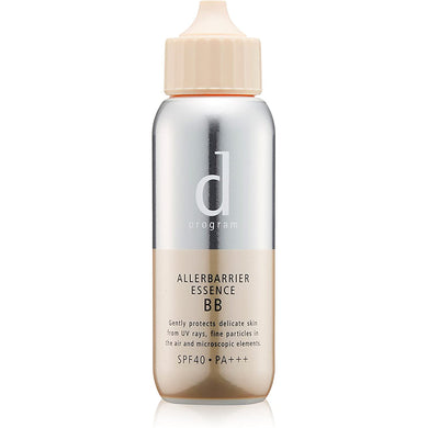 D PROGRAM ALLERBARRIER ESSENCE BB NATURAL (SPF40・PA+++) 40mL With allergen barrier technology, it protects the skin from pollen, dust, dust and other fine particles.  The BB effect naturally covers redness and dullness *, and it is a light finish with no thick coating feeling.  Non-chemical prescription that does not use UV absorbers.  Improves the foundation's stickiness and paste, and also has a makeup base effect for 10 hours.