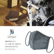 Load image into Gallery viewer, Denim Mask SETTO Linen Chambray- Approx. 14×23cm BMASK003 [Direct from Japan]
