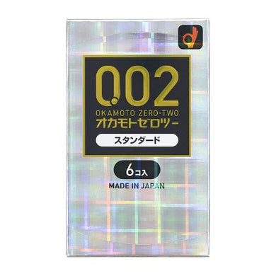 Zero Zero Two Condoms 0.02mm EX Standard Size 6 pcs
