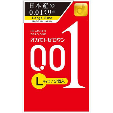 Zero One Condoms 0.01mm L size 3 pcs