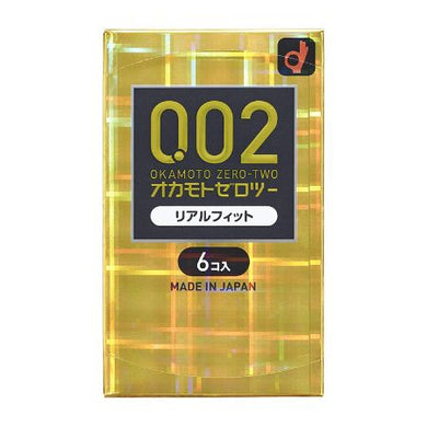 Zero Two Condoms 0.02mm Real Fit 6 pcs
