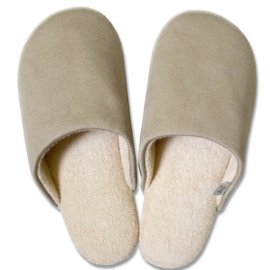 OKA �yAnti-bacterial Deodorization�z Ag+ Feel At Ease Slipper SOFTY 2 M Size (Approx. 23�~25cm max.) Beige