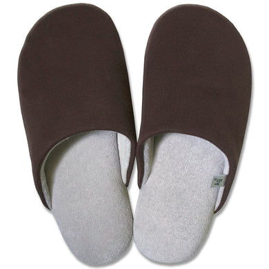 OKA Anti-bacterial Deodorization Ag+ Feel At Ease Slipper SOFTY 2 L Size (Approx. 25x27cm max.) Brown