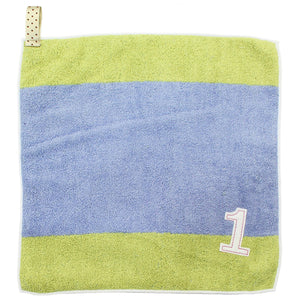 �yIMABARI Towel�z mama&me NUMBER-COLOR Kids Hand Towel (Length 28�~ Width 29cm) Light Blue (NO.1)