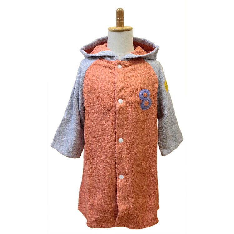 �yIMABARI Towel�z mama&me NUMBER-COLOR Kids Bathrobe S (Size: Length Approx. 48�~ Width 39cm) Salmon Pink (NO.8)