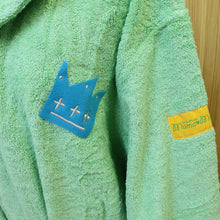 Load image into Gallery viewer, IMABARI Towel mama&me MULTI-STRIPES Kids Bathrobe M (Size: Length Approx. 60 x Width 42cm) Green
