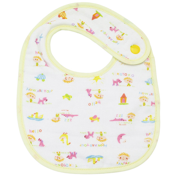 IMABARI Towel MY FAIR BABY MAKE-FRIENDS Kids Children Use Bib Hook-style Design Side Close (Neck Opening Size Approx. 30cm)
