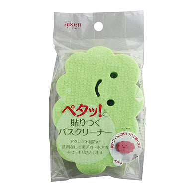 AISEN Bathroom Stick-on Cleaning Sponge Green