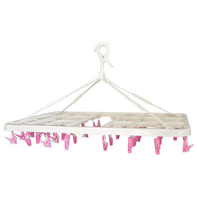 AISEN Foldable Rectangle Pinch Clip Hanger 46WP Pink