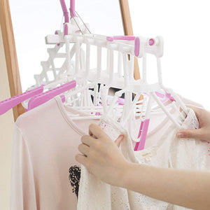AISEN Indoor & Outdoor Shirt Drying Hanger 6 Connected WH*PI