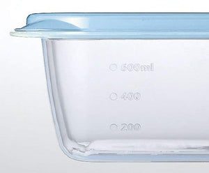 IWASAKI INDUSTRY Smart Flap Container AG+ Rectangular S 4P A-040 LB Blue