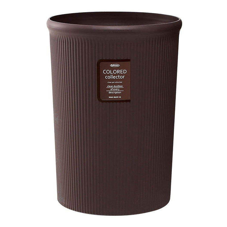 IWASAKI INDUSTRY Color Collector Trash Bin L L-1062BC Bitter Chocolate