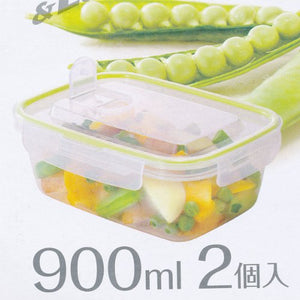 IWASAKI INDUSTRY Smart Flap Container & Locks 900ml 2P A-2162G