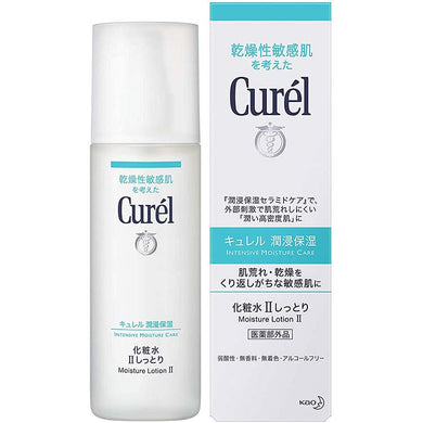 Curel Moisture Care Lotion II Moist, 150ml, Japan No.1 Brand for Sensitive Skin Care