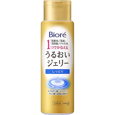 Biore Moist Jelly Everyday Moist Main Item 180ml, Japan Skin Care Lotion, After washing your face, skin care is complete.  A moisturizing jelly that can be used as a