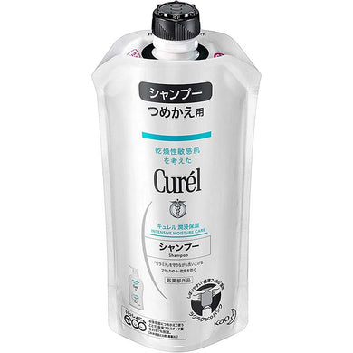 Curel Moisture Care Shampoo Refill 340ml, Japan No.1 Brand for Sensitive Skin Care (Suitable for Infants/Baby) Weakly Acidic/Fragrance-free/No Coloring
