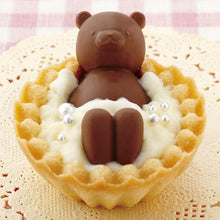 Load image into Gallery viewer, Baking Accessory Tart Tartlet Decoration Chocolate Silicon Mould Type Bathing Cute Bear 3D Design Cake Figurine