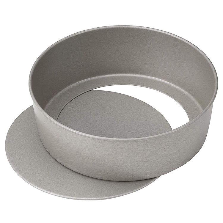 KAI HOUSE SELECT Whole Round Cake Ring Mold Loose Push Bottom-type Tart Mould Baking Tool 18cm Pushpan