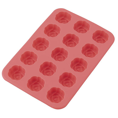 KAI HOUSE SELECT Japanese Dessert Type Silicon Material Baking Tools Cake Mould Rose Flower 15-Pieces