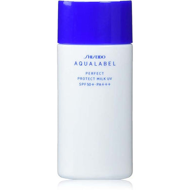 Shiseido AQUALABEL Perfect Protect Milk UV 45ml SPF50+ PA+++ Japan Beauty Skin Care Sunscreen