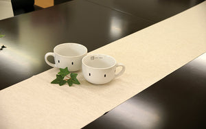 [Made in Japan]  DECOOR Interior Cloth Table Runner Natural Sand (Brown)