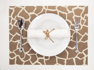 [Made in Japan]  DECOOR Interior Cloth Table Runner Animal Giraffe Brown