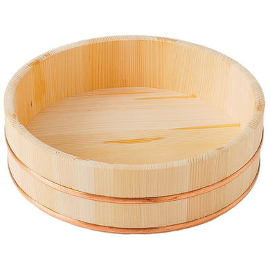 IKEGAWA Wood Sushi Rice Making Tub 27cm Kiso Cypress Wood Copper Hoop