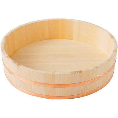 IKEGAWA Wood Sushi Rice Making Tub 42cm Kiso Cypress Wood Copper Hoop