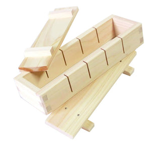 Japanese Cypress Wooden Pressed Sushi Device Sushi Press Mould (5 Pc Cut)
