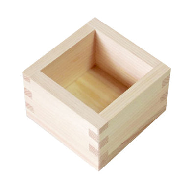 Japanese Cypress Wooden Box Square Food Drink One Type