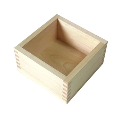 Japanese Cypress Wooden Box Square Food Drink Five Type