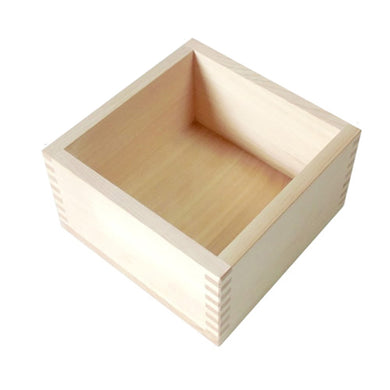 Japanese Cypress Wooden Box Square Food Drink One Bushel