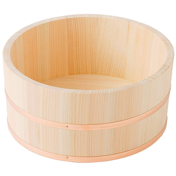 IKEGAWA Wood Cypress Bath Use Tub ( Large ) Copper Hoop
