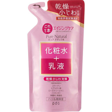 Pure Natural Essence Lotion Lift 200ml Refill Japan Anti-aging High Moisturizing Skin Care Anti-wrinkle Dryness Prevention