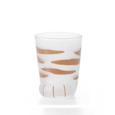 Coconeko Cat Paw Glass Cup - Kitten Size Tiger 230ml