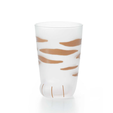 Coconeko Cat Paw Glass Cup - Kitten Size Tiger 300ml