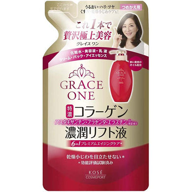 KOSE KOSE Grace One Concentration Lift Liquid Refill 200ml Japan Anti-aging Skin Care Moist Lift Perfect Essence