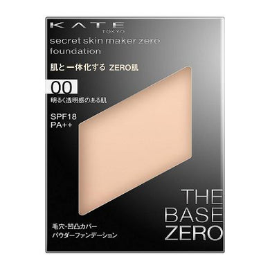 KATE Powder Foundation Secret Skin Maker Zero 00 Bright and Transparent Skin - Goodsania