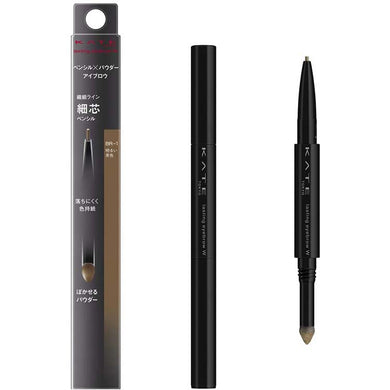 KATE Lasting Design Eyebrow W (Slim) BR-1 Light Brown 0.38g Brush Pencil