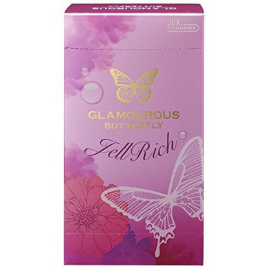 Condoms Glamourous Butterfly Gel Rich Type 8 pcs