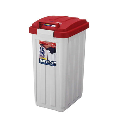 ASVEL With Handle Color Separation Bin Pail 45 6712 Red