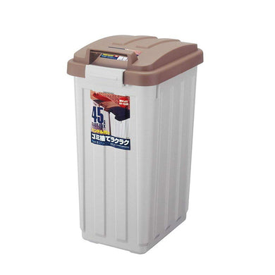 ASVEL With Handle Color Separation Bin Pail 45 6712 Brown