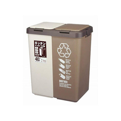 ASVEL Separation Dust Box Bin SP Twin Push 40 6759 Brown