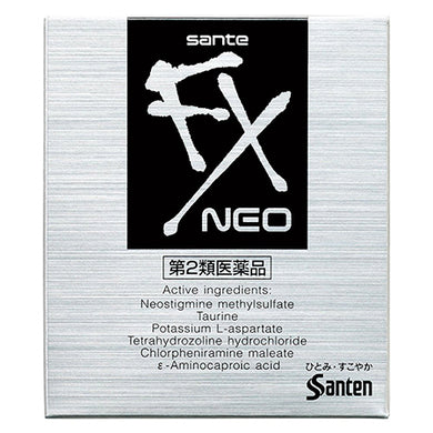 Sante FX NEO 12mL- refreshing Japan eye drops that relieves eye fatigue and tiredness with a refreshing cool sensation.