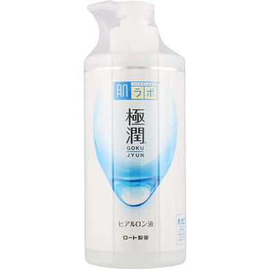 Hada Labo Gokujyun Hyaluronic Acid Solution SHA Hydrating Lotion Large-capacity Pump-type 400ml Moist Soft Skin Care