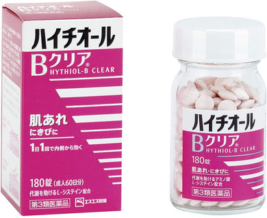 Hythiol B Clear 180 Tablets for acne skin care. Just 1 pill a day will help to clear blemishes and promote good healthy skin. With amino acid L-cysteine, Vitamin Bs and C to boost healthy skin cells.
